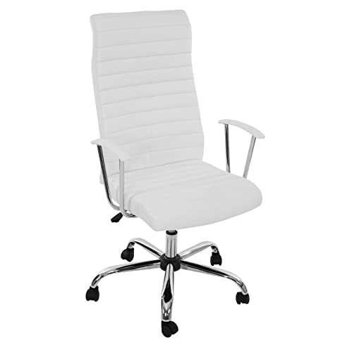 Bürostuhl weiß  Bürostuhl Drehstuhl Chefsessel Cagliari, ergonomische Form ~ weiß ...