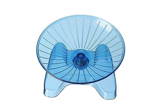 SatisPet - Rueda de Ejercicio para Hámster, Color Azul, plástico ...