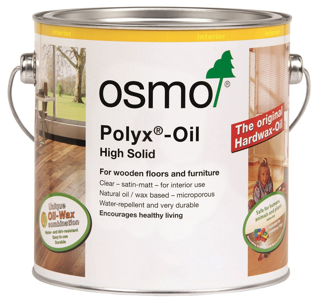 Osmo Polyx Hard Wax Oil-Clear Satin 2.5 Litre 3032D