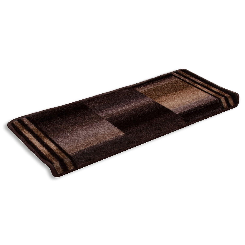Casa pura pura pura Teppich Läufer Braun Gemustert   Qualitätsprodukt aus Deutschland   Gut Siegel   Kombinierbar mit Stufenmatten   3 Breiten und 27 Längen (100 x 350cm) 4c6305