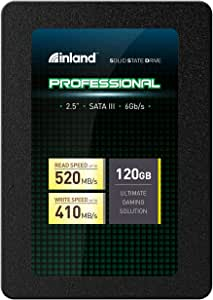 """Inland Professional 120GB SSD 3D NAND SATA III 6Gb/s 2.5"""" 7mm Internal Solid State Drive (120GB)"""