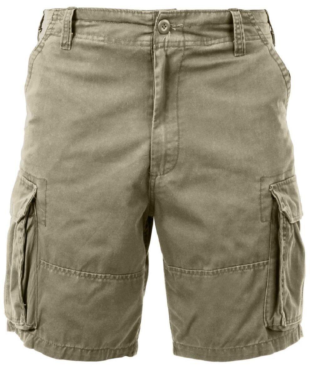Bellawjace Clothing Khaki Military Vintage Army Paratrooper Shorts Cargo Shorts
