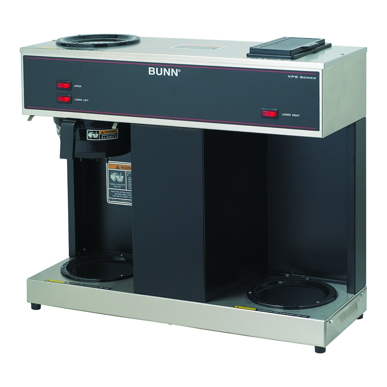 BUNN 04275.0031 VPS 12-Cup Pourover Commercial Coffee Brewer, with 3 Warmers (120V/60/1PH) by BUNN