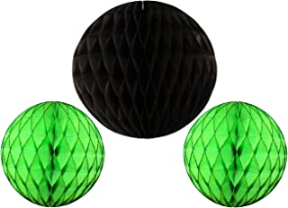 product image for 3-Piece Honeycomb Ball Decorations, Black Lime