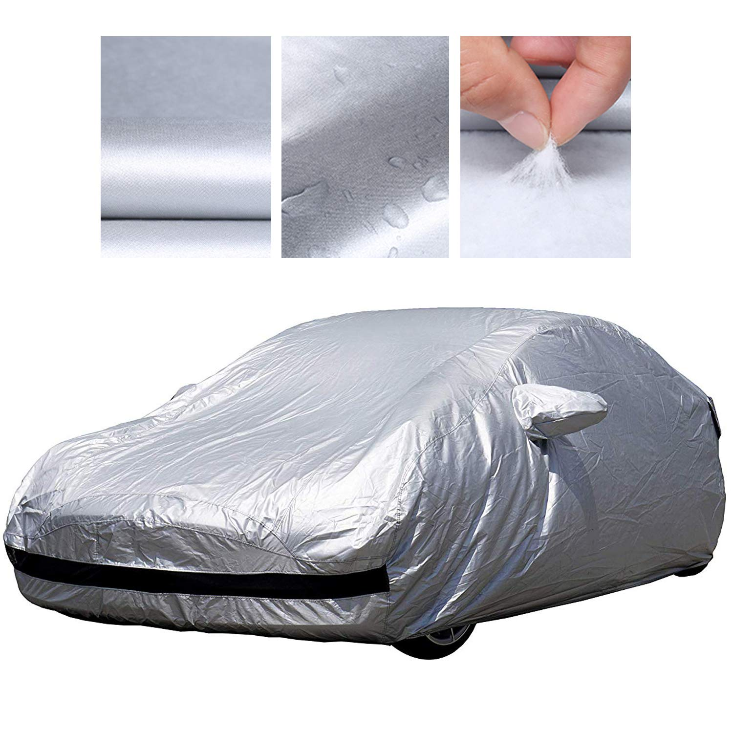 Charge Port for All Tesla Model 3 BASENOR Tesla Model 3 Car Cover Waterproof UV Protection Cover Breathable Outdoor Indoor with Ventilated Mesh
