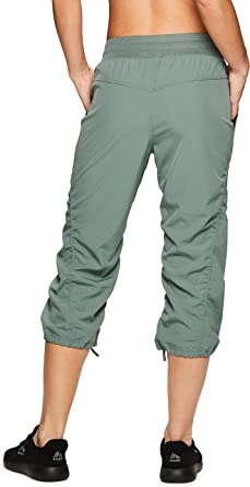 RBX Active Women's Lightweight Body Skimming Drawstring Capri Pant