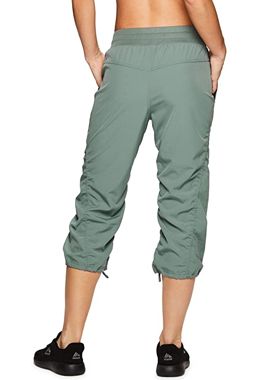 Amazon.com: Rbx Active Pantalón Capri tejido para mujer con ...