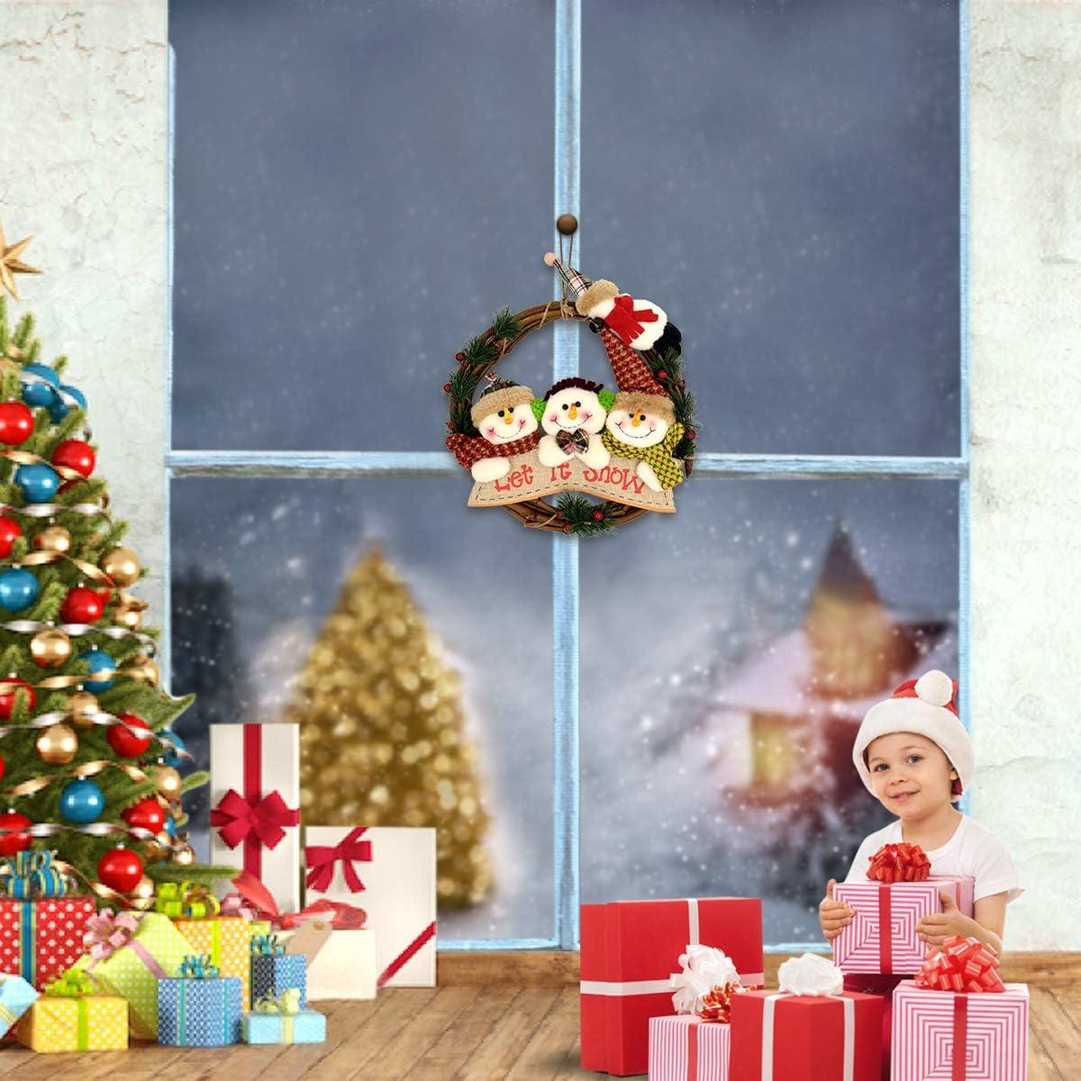 HARBORII Christmas Decoration Merry Christmas Wreath Cute Wreath Christmas Wreath Christmas
