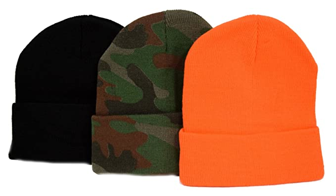 56a12274 Image Unavailable. Image not available for. Color: Great Deals! 3 Knit  Beanies/ Black ...