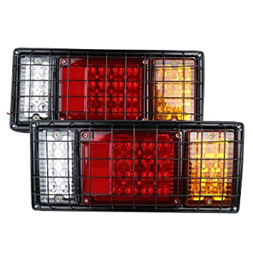 Amazon 40 led trailer truck tail lights bar high brightness 40 led trailer truck tail lights bar high brightness with 5 wire connection for negative aloadofball Image collections