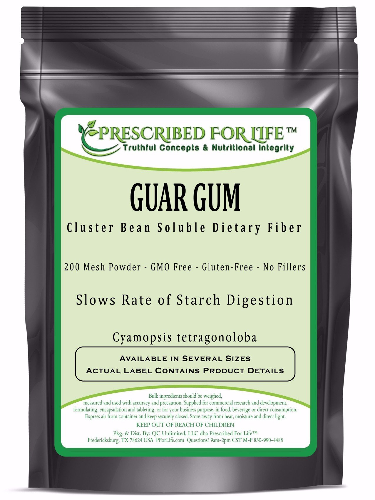 Guar Gum - Natural Dietary Soluble Fiber Powder - 200 Mesh, 10 kg by Prescribed For Life (Image #1)