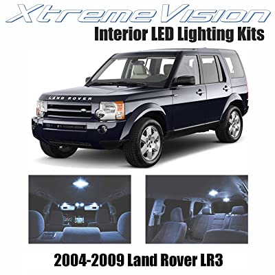 XtremeVision Interior LED for Land Rover LR3 2004-2009 (18 Pieces) Cool White Interior LED Kit + Installation Tool: Automotive