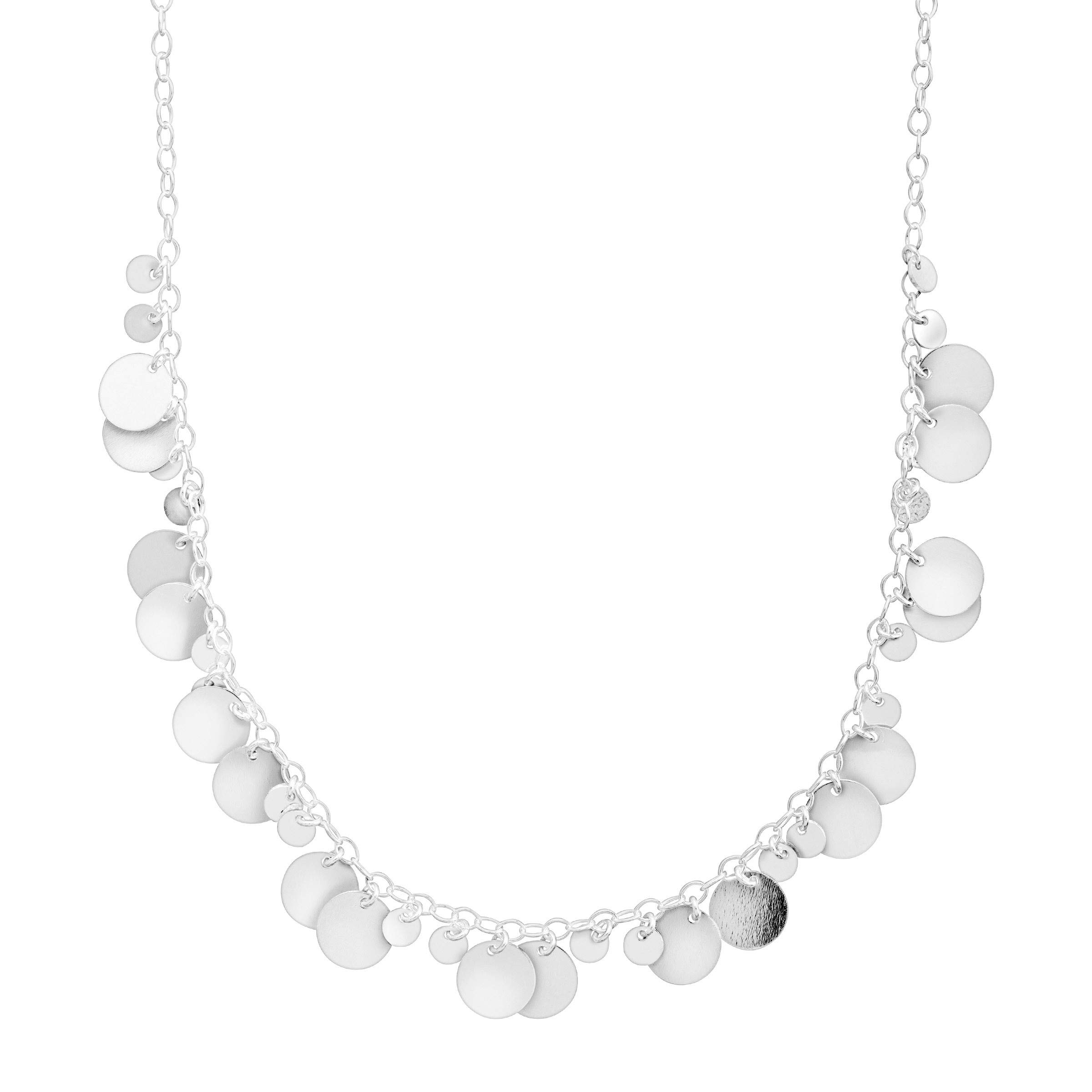 Silpada 'Saguaro' Beaded Disc Necklace in Sterling Silver