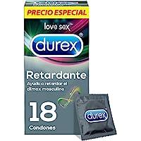 Durex Condones Retardante con Benzocaína, Cartera con 18 Piezas, color, 18 count, pack of aquete de, 18 count, Paquete de 1
