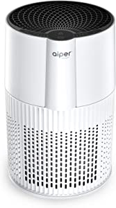 AIPER Air Purifier for Home with True HEPA Filter, Sleep Mode, Auto Mode, Desktop 25dB Air Cleaner for Smoke, Dust, Pollen, Odors, Bedroom, Office