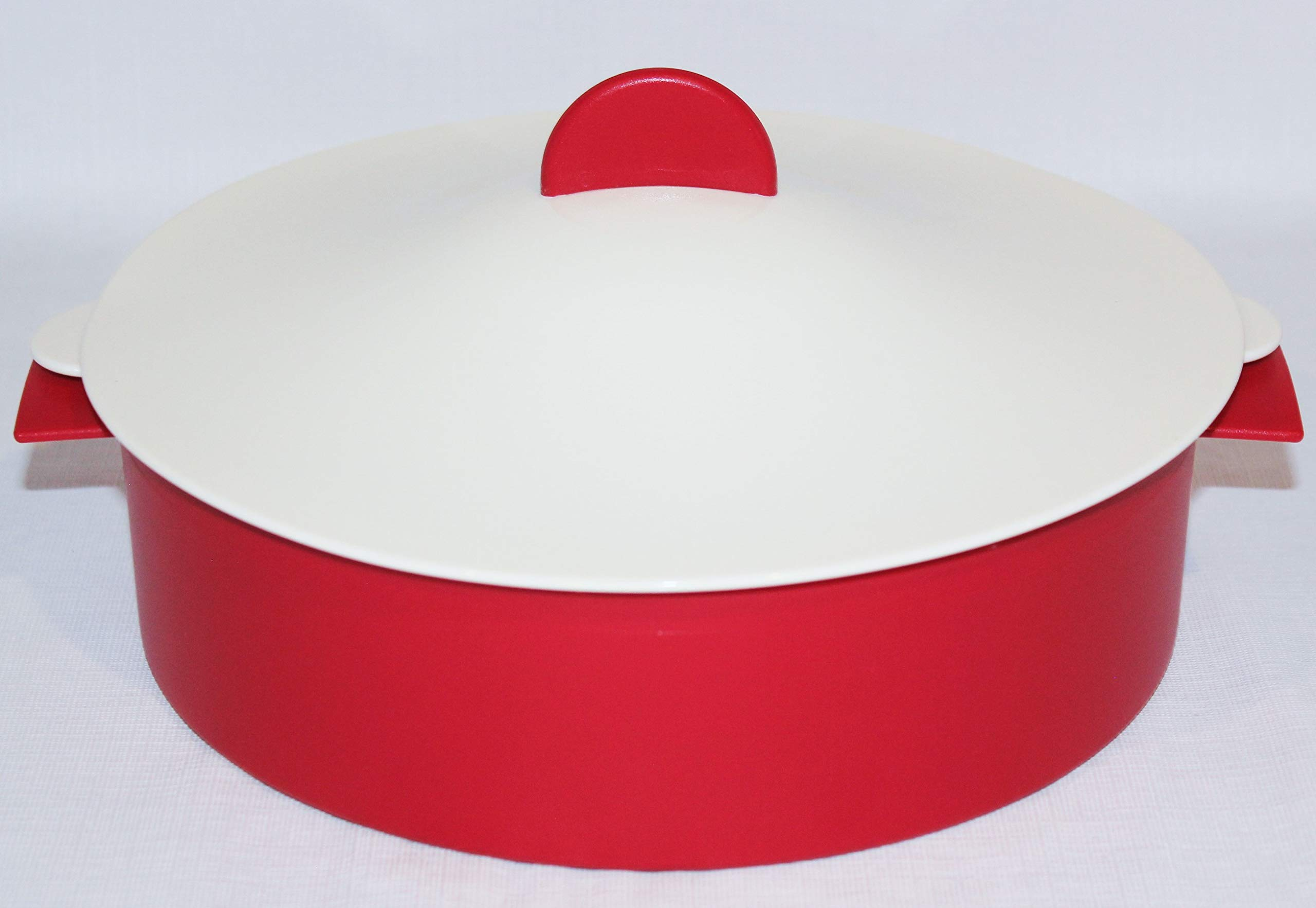 Tupperware Large Microsteamer 9 Cup Microwave Steamer Red Ivory