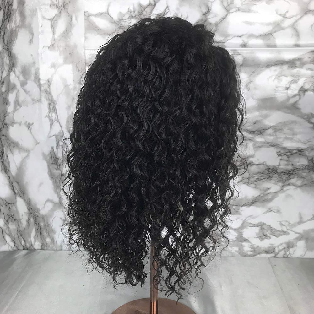 Short Bob Full Lace Human Hair Wigs With Baby Hair For Black Women Pre Plucked Hairline Brazilian Virgin Lace Front Human Hair Wigs 8''-16'' Loose Curly Hair Natural Color (Lace Front Wig 8) by Berimy (Image #5)