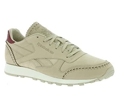 6b2fdd51c0587 Reebok CL Leather LUX Horween Men s Real Leather Sneaker Beige AQ9963