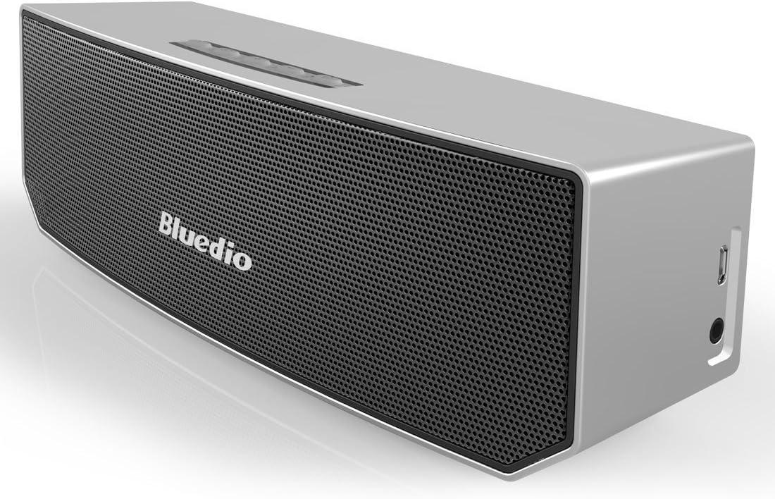 Bluedio BS-3 (Camel) Portabile Casse Bluetooth Diffusore Altoparlante Revolution 3D Neodymium Magnets/52mm Ultra-big Drive Units/Rich Bass Wireless Soundbar/Excellent 3D Surround System Retail-Gift Packgage (Nero)