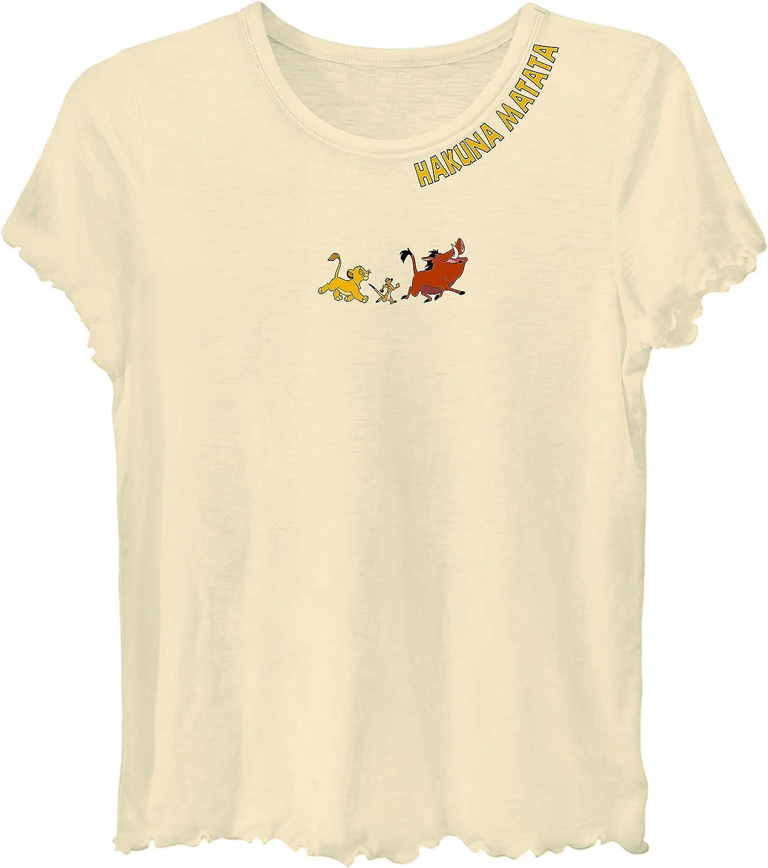 Disney Ladies Lion King Fashion Shirt Ladies Classic Hakuna Matata Clothing Lion King Crop Top Tee