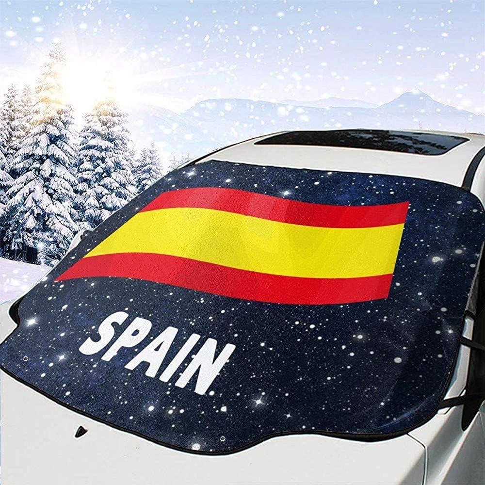 Dem Boswell España Bandera Coche Parabrisas Delantero Cubierta de Nieve Coche Cristal Sombrilla: Amazon.es: Coche y moto