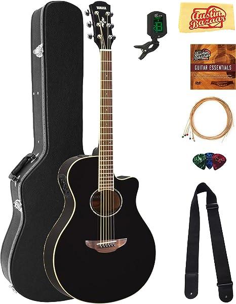 Yamaha APX600 - Guitarra acústica para cuerpo delgado, color negro ...