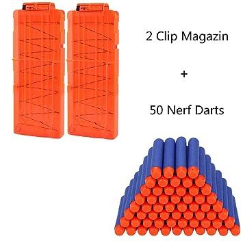 queenshiny 7,2 cm Bleu mousse 100 pcs dards pour Nerf N-grève Elite série Blasters Toy Gun