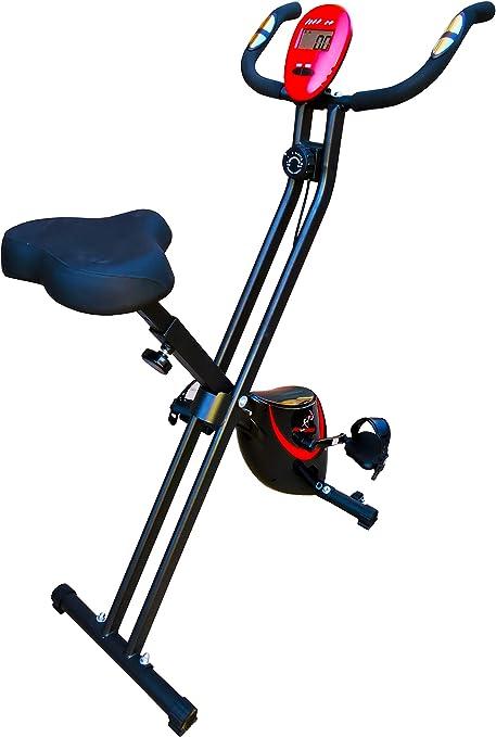 FIT-FORCE Bicicleta estática Regulable Plegable 8 Niveles de Resistencia 16KG: Amazon.es: Deportes y aire libre