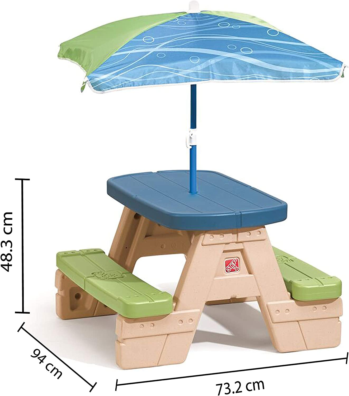 Step 2 - Mesa picnic con sombrilla Sit & Play (ColorBaby 85308)