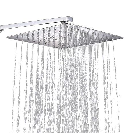Lluvia Ducha Cuadrada empotrable ducha de acero inoxidable ...