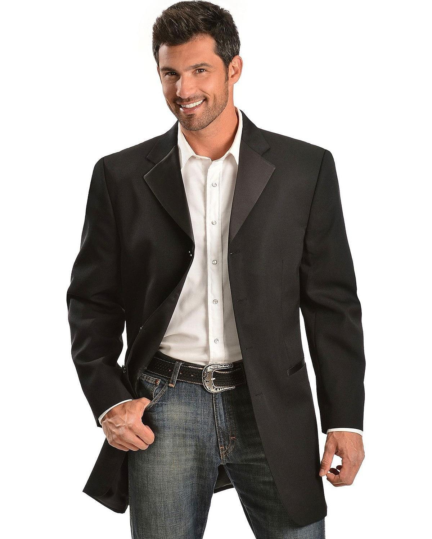 Circle S Men's Tuxedo Sport Coat Black 42 R