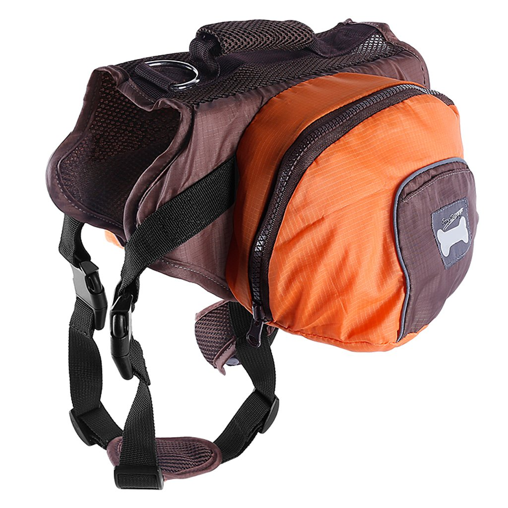 MagiDeal Dog Foldable Backpack Waterproof Portable Travel Outdoor Bag Pack Orange S