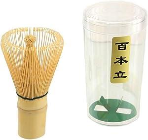 JapanBargain 2200, Bamboo Matcha Whisk Japanese Ceremonial Matcha Chasen Green Tea Powder Whisk for Tea Ceremony 100 Prong
