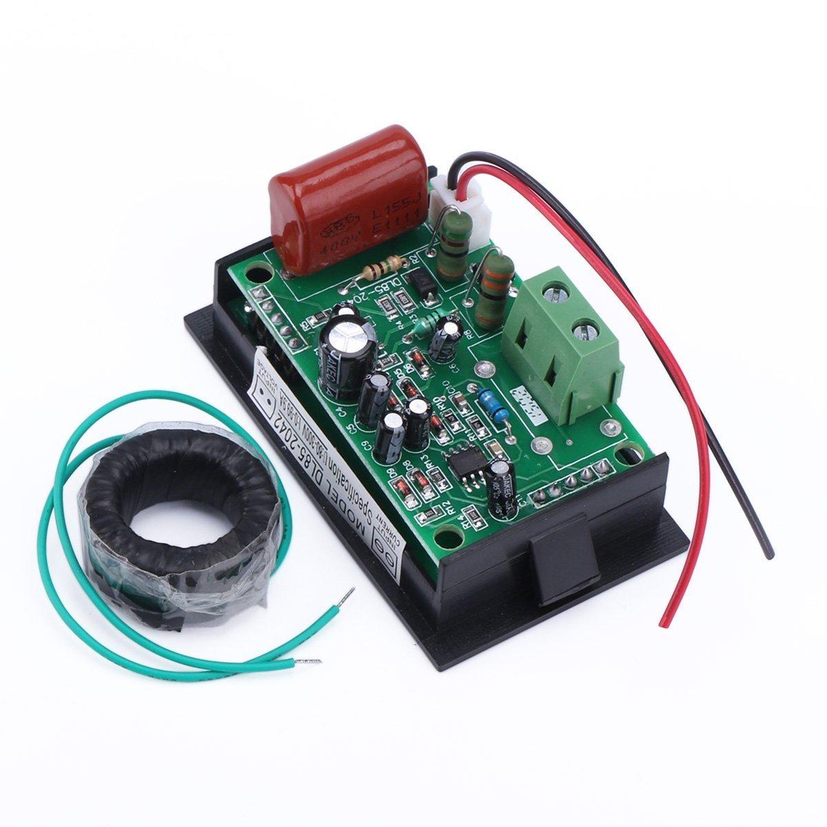 Droking 220 V//240 V 80 V-300 V//100 A Digital AC Current Meter Volt Amperometro Gauge Trasformatore Sensore di Corrente Sensore Trasformatore LED Dual Displayr Voltmetro Gauge