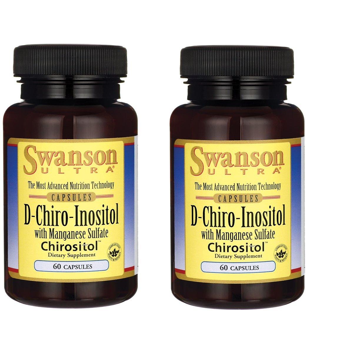 Swanson Vitamin D-Chiro-Inositol 60 Capsules 2 Pack