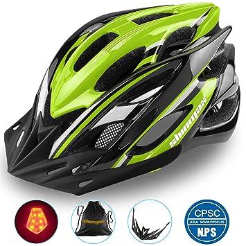 Shinmax Casco Especializado de la Bici con la luz Seguridad Casco ...