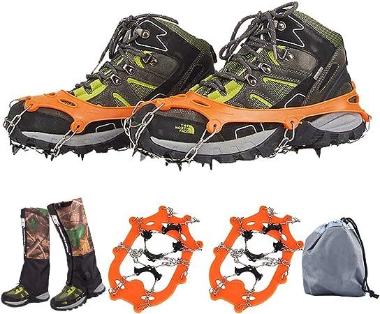 KADDGN Zapatos de Hielo Nieve Puños Sets + Nieve Polainas ...