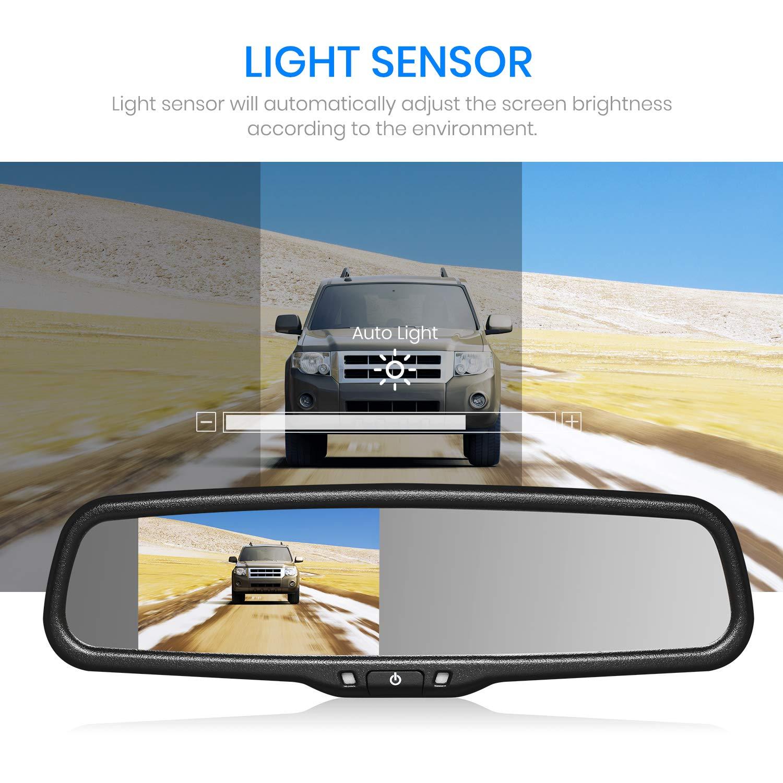 AUTO-VOX Cam/éra de Recul Sans Fil avec Ecran tactile Full HD  cam/éra arri/ère etanches IP68 avec 6 LEDs /& Moniteur R/étroviseur /& Vision Angle 170/° Super vision nocturne