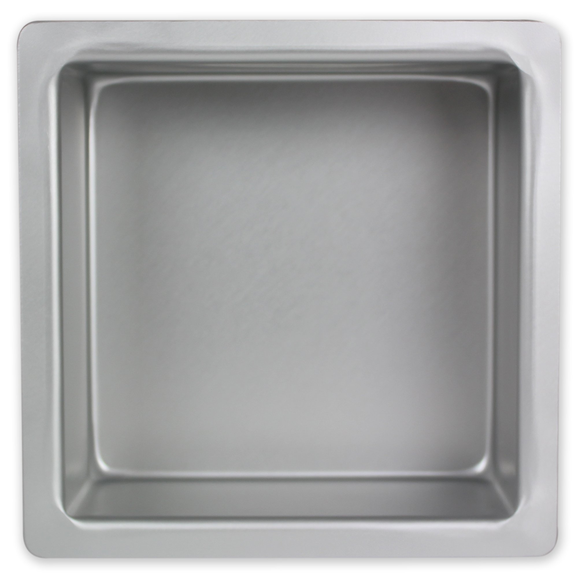 PME Square 6'' x 6'' x 3'' Seamless Professional Aluminum Baking Pan, Silver