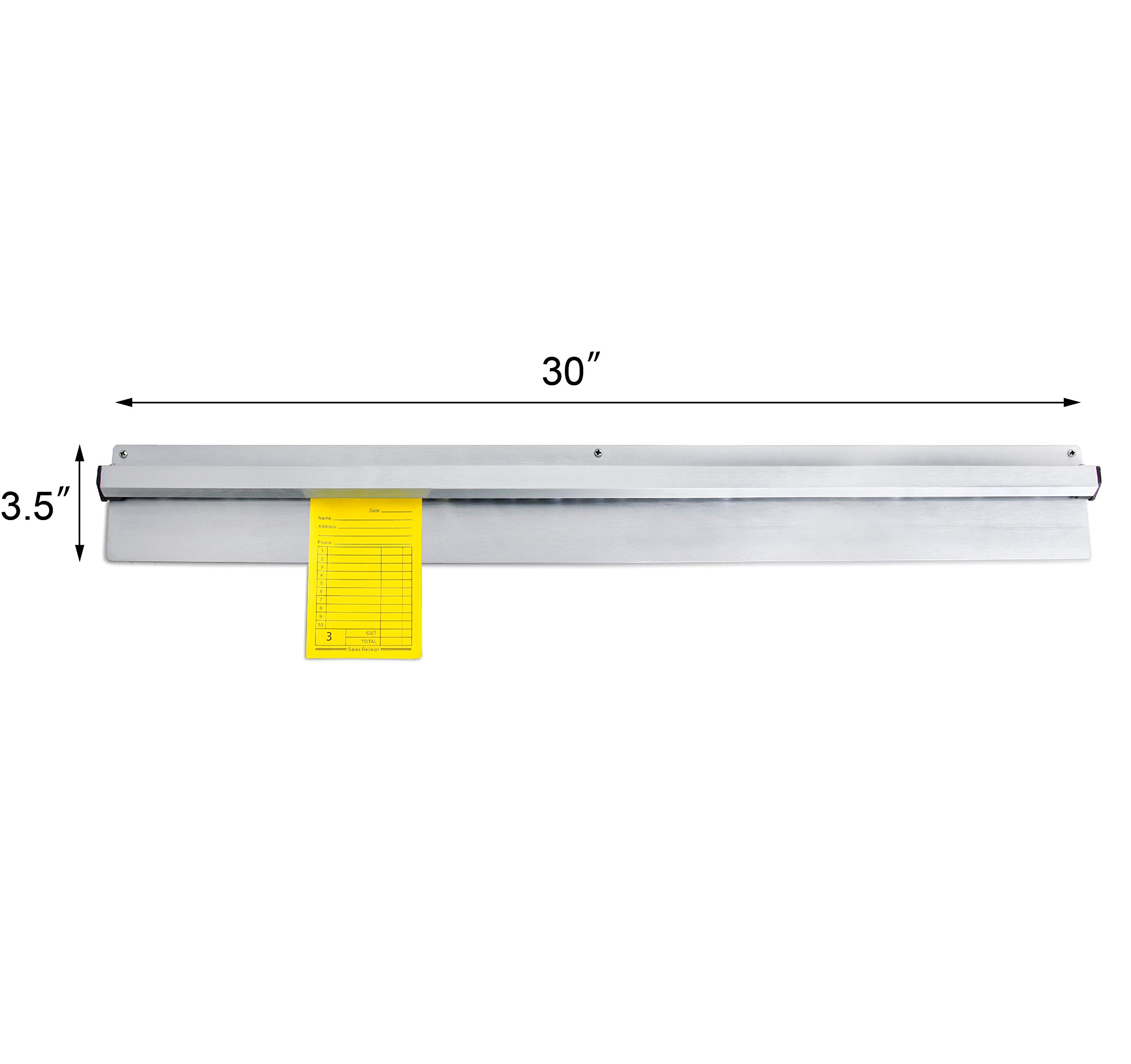 New Star Foodservice 23893 Anodized Aluminum Slide Check Rack, 30-Inch, Silver by New Star Foodservice