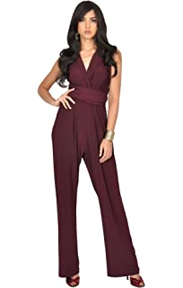 54b48a54f60 KOH KOH Womens Infinity Convertible Wrap Party Cocktail Jumpsuit Romper  Pants