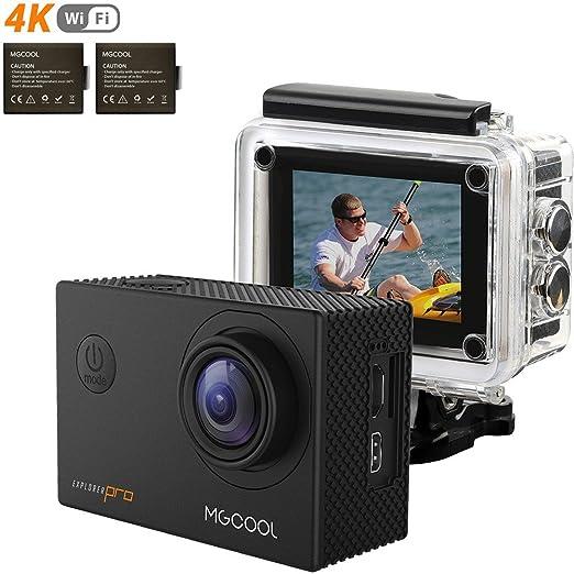22 opinioni per MGCOOL Action Camera 2 x Batteries 4k Wifi Sony 16MP 1080p@60fps Waterproof 30M