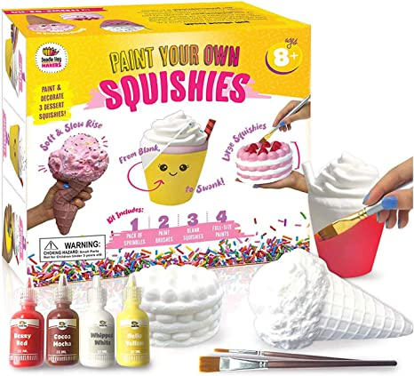 Arts and Crafts for Girls - DIY Dessert Paint Your Own Squishies Kit. Gifts for Craft Lovers Ages 8 9 10  Toys.