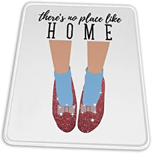 There's No Place Like Home Mouse Pad Non-Slip Rubber Base for Office Gaming Computer with Stitched Edge 10x12 in