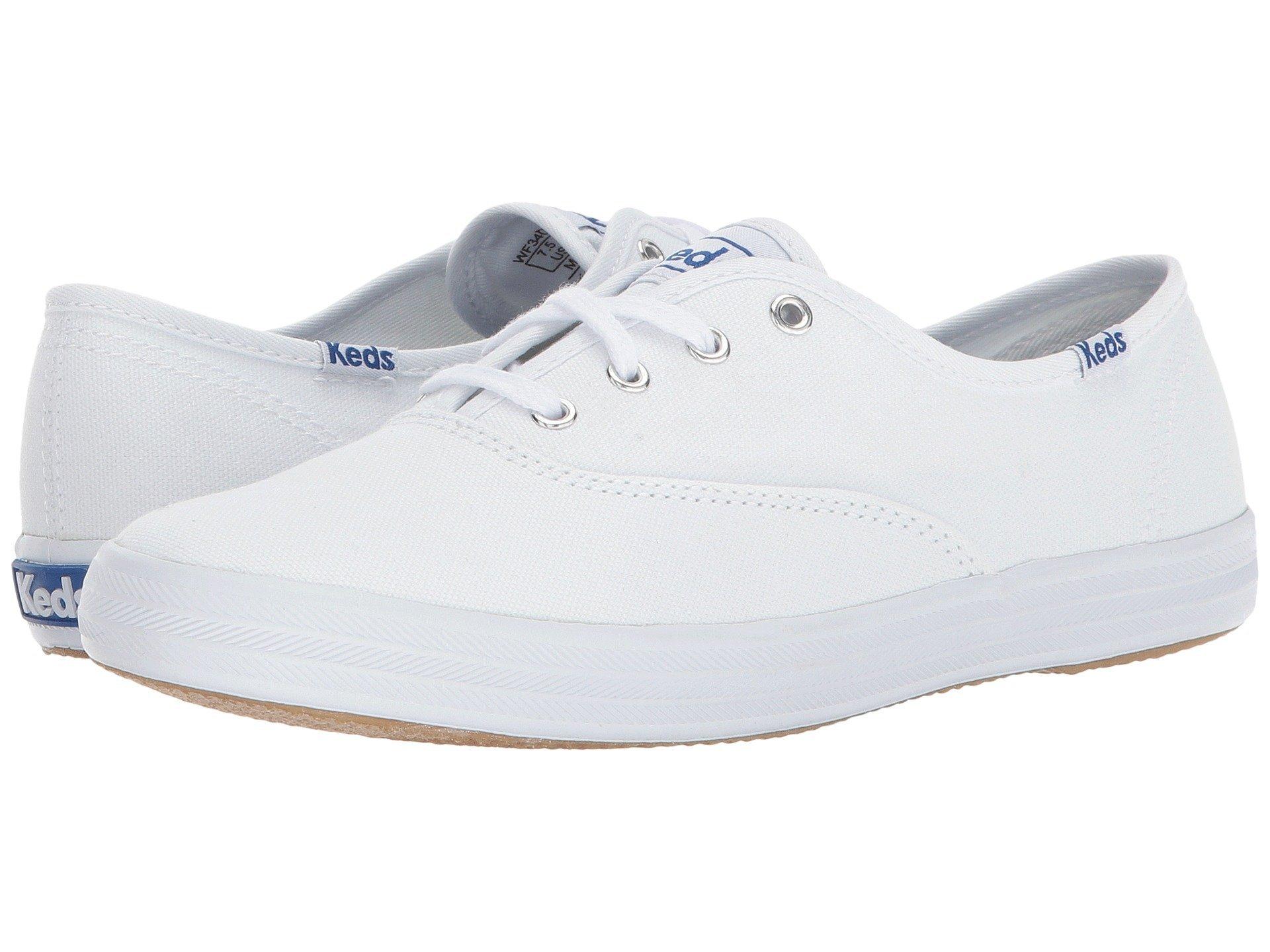 Keds Women's Champion Original Canvas Sneaker,White Canvas, 9.5 M US