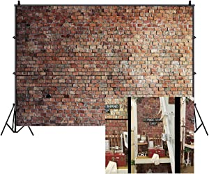 LFEEY 10x8ft Vintage Red Brick Wall Photo Backdrop Newborn Baby Girls Adults Portrait Photography Background Wallpaper Photo Studio Props