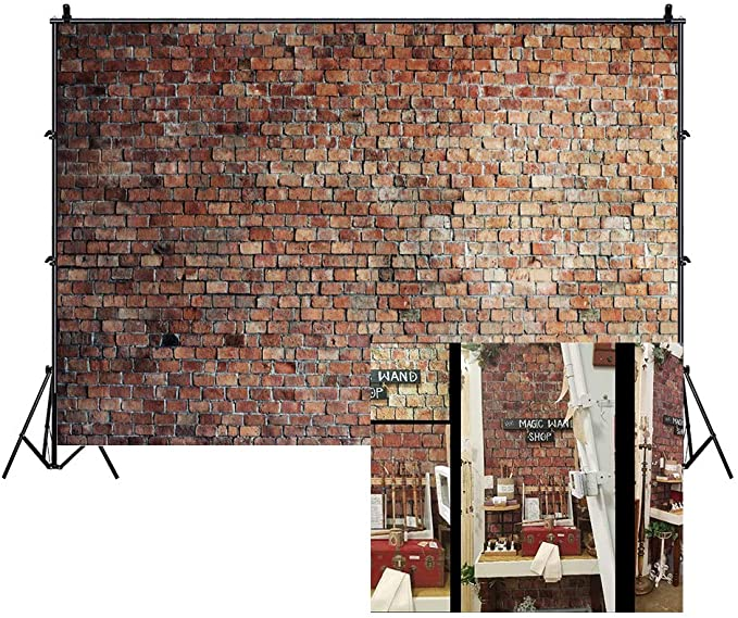 Leyiyi 8x8ft University Red Brick Wall Backdrop Books Alarm Clock Bachelor Cap Apple White and Yellow Flowers Photography Background Class Graduation Prom Party Banner Vinyl Photo Studio Props