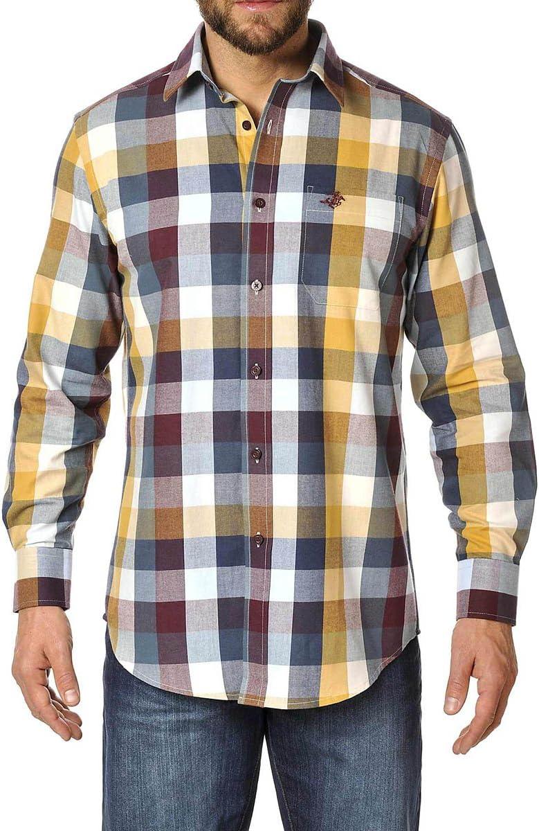 Winchester Trio camisa de manga larga Talla M burdeos/azul ...
