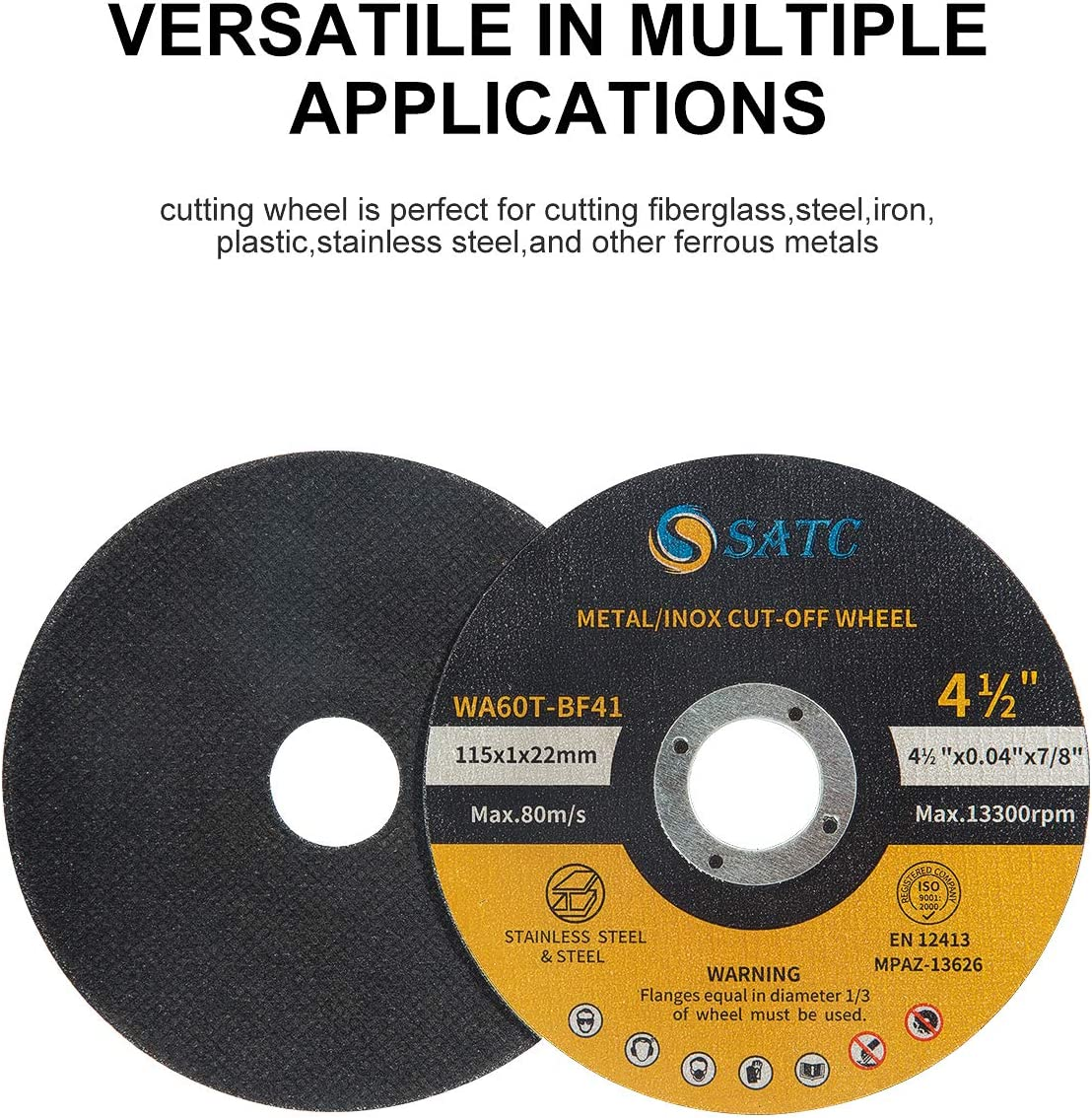 "Metal /& Stainless Steel US 50 Pcs Cutting Discs 4.5/"" Cut-off Wheel"