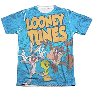 357e8e11 A&E Designs Looney Tunes Collage Sublimation Tee Shirt (Front & Back), ...